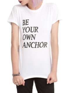 Fitted white tee Teen Wolf Be Your Own Anchor
