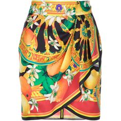 DOLCE & GABBANA printed skirt ($690) ❤ liked on Polyvore featuring skirts, bottoms, faldas, dolce & gabbana, ruched skirt, colorful skirts, dolce&gabbana, high waisted skirts and high rise skirts
