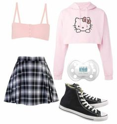 Little Girl Outfits, Cute Outfits For Kids, Cute Casual Outfits, Pretty Outfits, Pastel Goth Fashion, Kawaii Fashion, Cute Fashion, Girls Fashion Clothes, Teen Fashion Outfits