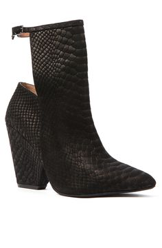 Jeffrey Campbell The Norwalk Shoe in Black Python - Karmaloop.com