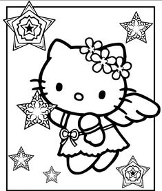 Hello Kitty Christmas Coloring Pages - http://designkids.info/hello-kitty-christmas-coloring-pages.html  #designkids #coloringpages #kidsdesign #kids #design #coloring #page #room #kidsroom