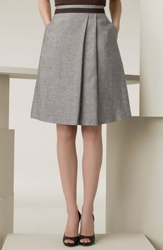 Max Mara 'Magia' Linen Blend Skirt available at #Nordstrom