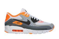 Nike Air Max 90 Barefoot White Grey Laser Orange
