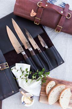 Tasmanian Leather knife rolls made by Tasmanian leather craftsman maka  www.maka.com.au   IG maka_leathergoods