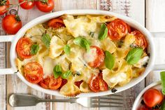 Traditional Italian Baked Sorrentine Bow Tie Pasta (Farfalle al Forno alla Sorrentina) | Enjoy this authentic Italian recipe from our kitchen to yours. Buon Appetito!