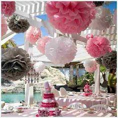 Balão Pompom Decorativo Em Papel Seda - Pesquisa Google