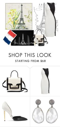"""Black and white in the French manner"" by sarahguo ❤ liked on Polyvore featuring Kate Spade, Versace and Tom Ford"