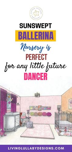 This ballerina nursery is perfect for any little future dancer. It is sophisticated and yet fun in the way that it plays with the warm color palette. It features classic and modern ballerina art. The essence of the room is encapsulated in the array of tutus on the wall arranged in an ombre like fashion. #kidsroom #bedroomdecoration #kidsroominterior #moms #nurseryroom #homedecoration #livingroom #designs #babyfashion #babybooks #livinglullabydesigns Ballerina Nursery, Ballerina Art, Warm Colour Palette, Warm Colors, Nursery Room, Girl Nursery, Pom Pom Mobile, Little Girl Rooms, Kidsroom