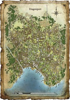fourth edition dungeons and dragons world Fantasy City Map, Fantasy Town, Fantasy World Map, Medieval Fantasy, Dark Sun, Dark Fantasy, Plan Ville, Imaginary Maps, Village Map