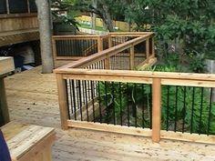 DIY Deck Railing Ideas I have collected a few DIY deck railing ideas to help pergola decor Deck Railing Design, Deck Design, Landscape Design, Deck With Pergola, Pergola Kits, Pergola Ideas, Deck Railing Ideas Diy, Pergola Roof, Cheap Pergola