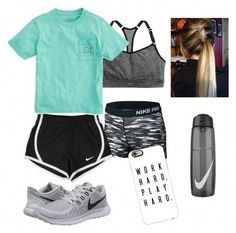 In case you are here, which means you are really interested in several super attractive gymnasium outfits. In case you are here, which means you are really interested in several super attractive gymnasium outfits. Cheer Practice Outfits, Cheer Outfits, Lazy Outfits, Sporty Outfits, Athletic Outfits, Athletic Wear, Outfits For Teens, Fashion Outfits, Cheer Clothes