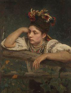 Ukrainian Girl---painting by Ilya Repin