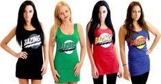 The Big Bang Theory Bazinga! Juniors Costume Tank Dress