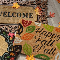 Usher in a new season with a stylish fall doormat! Whether you love classic or fun, Kirkland's has doormats that are perfect for fall, Halloween or Thanksgiving. Save off doormats through Fall Doormat, Coir Doormat, Kirkland Home Decor, Home Themes, Harvest Decorations, Doormats, Affordable Home Decor, Autumn Theme, Building Ideas