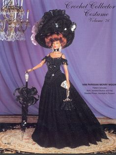 Dress Of Time For Barbie Magazine Crochet Collector Costume Volume 76