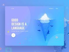 Good design is a language by Surja Sen Das Raj ___________________ o---> 💡If you have an app/website/project that needs outstanding… Ux Design, Design Blog, Web Design Company, Layout Design, Creative Design, Flat Design, Design Trends, Design Ideas, Interior Design