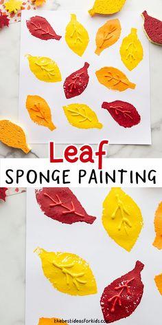 Make your own leaf sponge stamps!