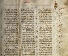 Este manuscrito da Bíblia hebraica é composto de 340 fólios de formato grande, em pergaminho de excelente qualidade escrito em três colunas. Os fólios apresentam o texto bíblico como uma linda carta sefardita quadrangular, com a Massorá Menor nas margens e entre as colunas e a Massorá Maior nas margens superiores e inferiores, em três…