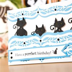 Tonic Rococo Petite Die and Stamp Collection - Purrfect Pets (361017) | Create and Craft