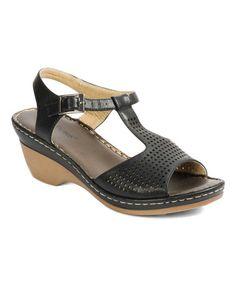 121f0ec6d0e1 Pierre Dumas Black Magda Buckle Sandal. Pierre DumasSandalSlide SandalsShoes  SandalsSandals