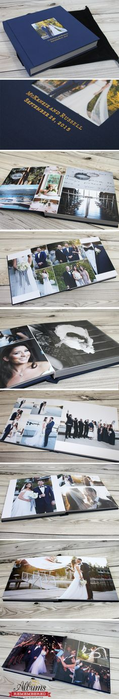 Albums Remembered offers professional custom wedding albums at an affordable price.