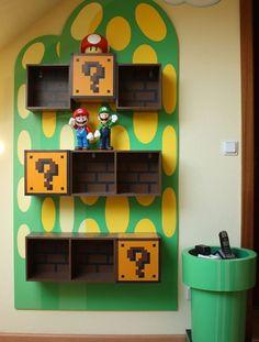 Mario Bros. Bookshelf.....so much want!