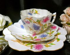 Beautiful Wileman Shelley Chrysanthemums ON Daisy Trio C1896 | eBay