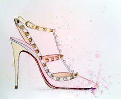Valentino pumps - illustration by Neda Kovač