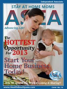 The hottest opportunity for 2013 ASEA's revolutionary product is a breakthrough that provides massive opportunity to impact and enhance the wellness of people all over the globe. Not only does ASEA provide amazing health benefits, it also provides unique, life-changing potential for achieving financial and personal career goals. Now is the perfect time to become a part of ASEA. http://on.fb.me/1a2LDOz