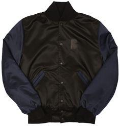 B-side satin varsity jacket £160