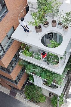 Garden & House    by Ryue Nishizawa    Tokyo - Japan  I need one of these in my flat!