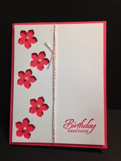 Petite Petals Punch, Birthday Card, Stampin' Up!, Rubber Stamping, Handmade Cards