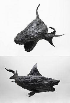 Old Tire Art. Nuff said.  No matter how good of a driver you are, your tires will eventually need replacing, but before you throw them out, here are ten weird and cool things you can make with them. First up, we have an incredible shark sculpture by Yong Ho Ji. Continue reading to see more.