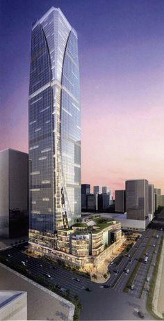 CHINA | Arquitectura y urbanismo - Page 136 - SkyscraperCity Barcelona Architecture, Office Building Architecture, Chinese Architecture, Building Facade, Futuristic City, Futuristic Architecture, Amazing Architecture, Architecture Details, Mix Use Building