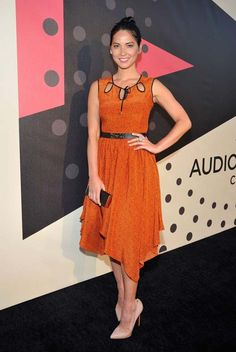 Olivia Munn in Jason Wu Pre-Fall 2012 Dress