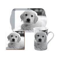 Pet Corner puppy cadeauset bestaande uit dienblaadje, mok en onderzetter speciaal voor hondenliefhebbers