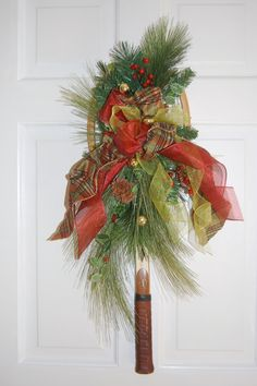 ...is it a vintage racquet or a Christmas wreath? You decide!