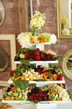 Appetizer display! Cheap and cute and healthy and classy!