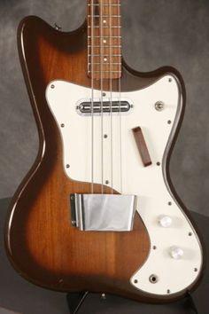 original-1960-039-s-Silvertone-Danelectro-Coral-034-slimline-034-1442L-Bass-BROWN-BURST
