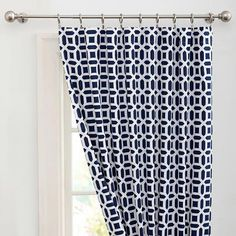 Pottery Barn Teen Peyton Blackout Drape, 52 X Royal Navy Teen Curtains, Bedroom Drapes, Room Darkening Curtains, Cool Curtains, Curtain Fabric, Panel Curtains, Kids Bedroom, Master Bedroom, Bedrooms