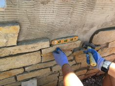 each section is like putting together a puzzle... you have to search the pieces of limestone for just the right fit...