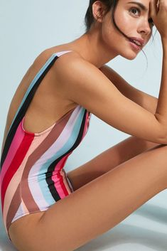 0deba2734e7b2 Solid   Striped The Anne-Marie One-Piece Swimsuit