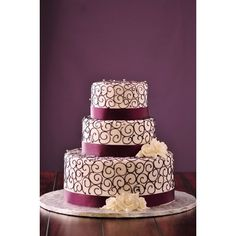 Wedding Cakes Photos ❤ liked on Polyvore featuring cake, food, wedding cakes and wedding