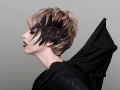 Wella Trendvision 2014 - Everything I love in a cut/color: edgy, short hair, blonde, dark lowlights, shadow, two-toned, and with an evil queen kinda vibe. LOVE!