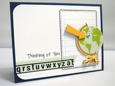 Thinking of You by *Jingle*. Take Note stamp set by Tami Mayberry for Gina K Designs