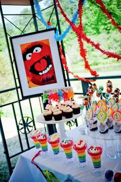 muppet themed inspired birthday party via Kara's Party Ideas- www.KarasPartyIdeas.com    http://karaspartyideas.com/2012/07/muppets-inspired-5th-birthday-party.html
