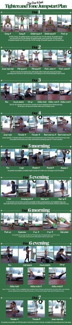 Tighten and Tone Jumpstart Plan #musclebuilding #exercise #tips www.walktc.net/