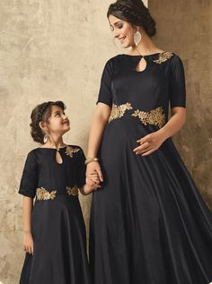 D.NO.- TC-16007 - KARMA MOTHER & DAUGHTER DESIGNER GOWN COLLECTION KARMA TC-16002 TO TC-16007 SERIES - DStyle Icon Fashion