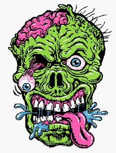 Illustration about Vector of a detailed zombie head. Illustration of fear, skeleton, headstone - 31718764 Pop Art Zombie, Arte Zombie, Zombie Head, Zombie Illustration, Illustration Vector, Monster Art, Adult Coloring, Coloring Books, Colouring