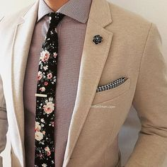 Loving the accessories and stylings from @Suited_Man including their wide selection of floral ties and lapel pins. Get them now at www.suitedman.com | Follow @suited_man #suitup @suitedmanstyle #floralties